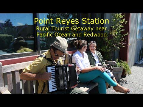 cTv Drone Flyover, Point Reyes Station, Charming Tourist Destination