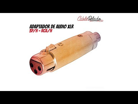 Video de Adaptador XLR mono 3 pin hembra - rca hembra  Gris