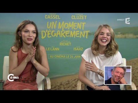 Vincent Cassel et François Cluzet vus par Alice Isaaz et Lola Le Lann  C à vous  18062015