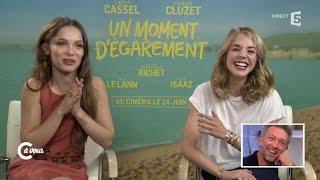 Vincent Cassel et François Cluzet vus par Alice Isaaz et Lola Le Lann - C à vous - 18/06/2015