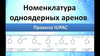 Ароматические углеводороды (Арены). Номенклатура (теория). Ч.1.