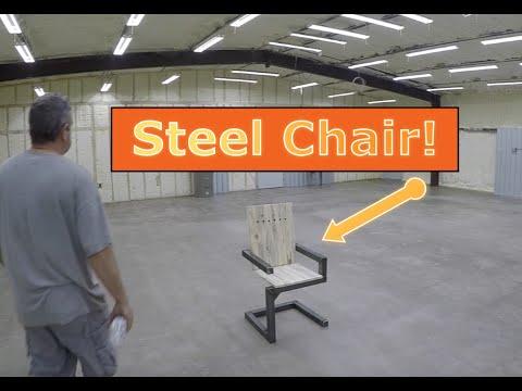 Custom Furniture Continous Tube Chair Steel Wood