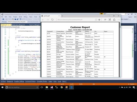 C# Tutorial - Print DataGridView With Header And Footer | FoxLearn