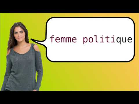How to say 'politician' in French?