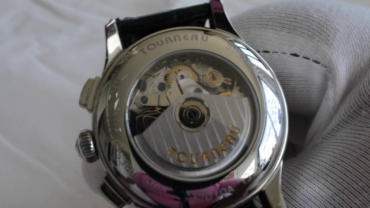 Great Value Watch With Complications - Tourneau with a Valjoux 7751 Movement