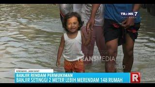 Banjir Setinggi 2 Meter Yang Rendam Ratusan Rumah di Karawang Kini Mulai Surut