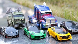 Transformers 5 TLK Autobots Bumblebee Optimus Prime Crosshairs Drift Hotrod Hound Car Robot Toys