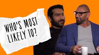 Dave Bautista and Kumail Nanjiani take on 'Who's Most Likely To...?' #Stuber edition