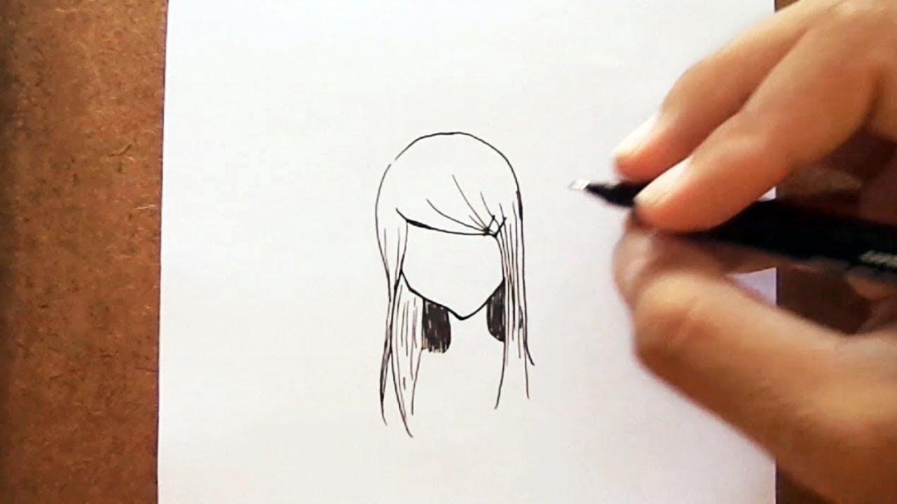 Como Desenhar Cabelo Feminino De Mangá