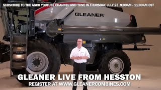 Gleaner Live from Hesston Virtual Event – Thursday, July 23rd from 9:00am – 11:00am CST