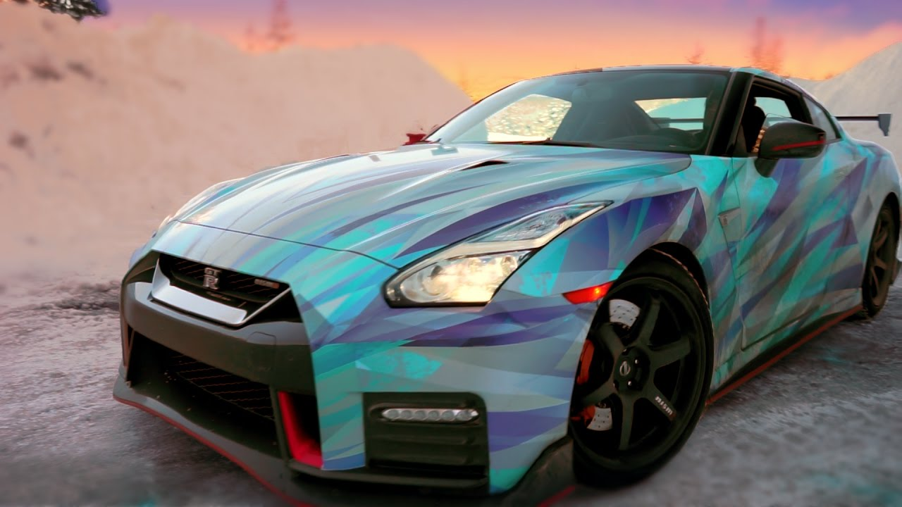Nissan GTR Nismo wrapped in BLUE ICE - YouTube