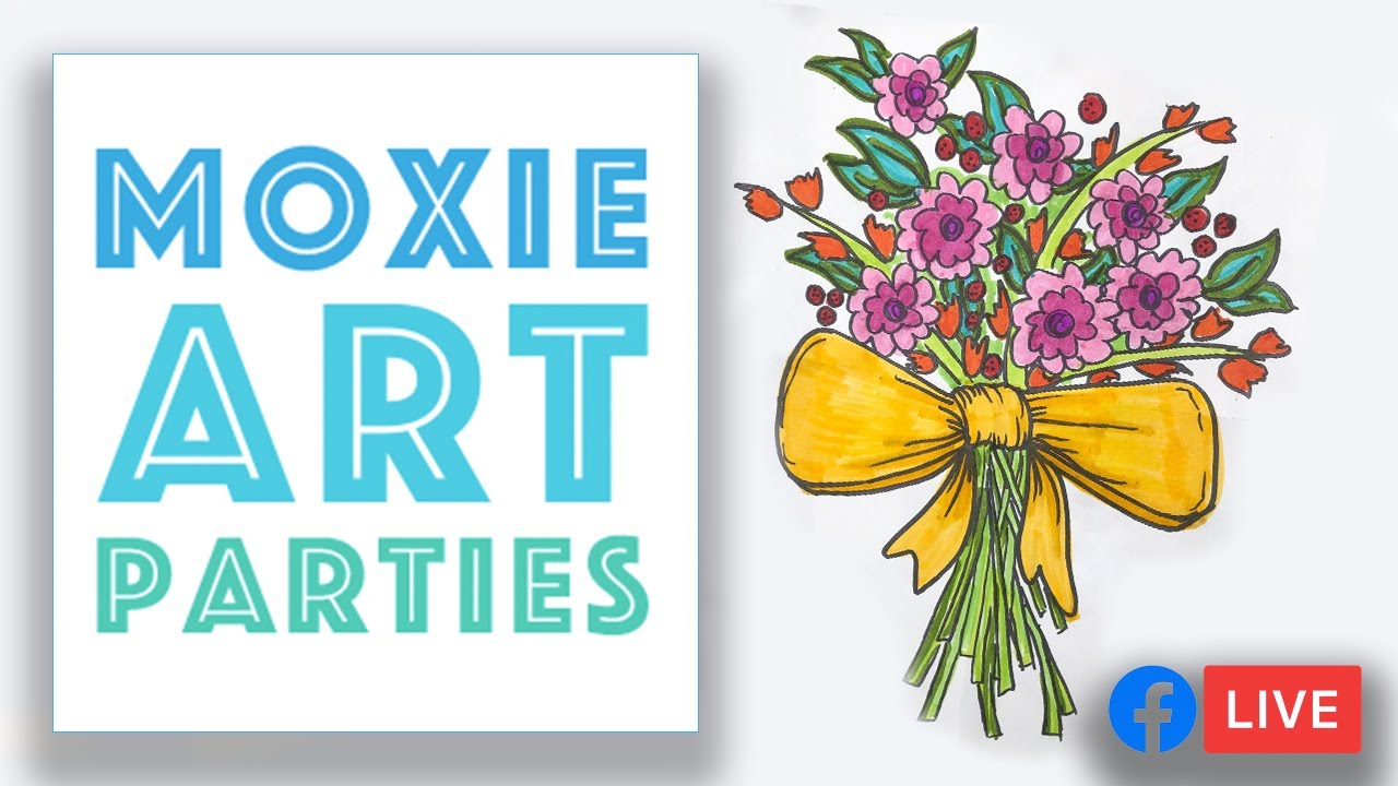 Flower Bouquet Drawing Art Lesson Youtube
