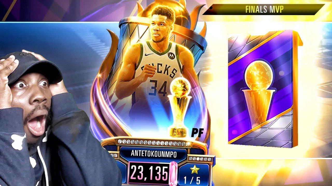 PINK DIAMOND FINALS MVP GIANNIS In PACK OPENING! NBA 2K Mobile Season 3