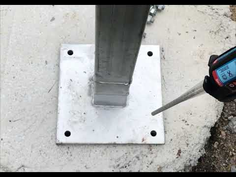 Chemset Video of Installing Posts for a Kit Home