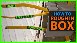 How To Rough In a Switch Box Feeding Lights & Outlets