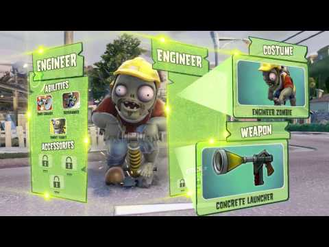 Plants vs. Zombies: Garden Warfare trailer highlights four core playable zombies