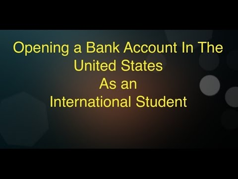 Opening A Bank Account In The United States..!!!