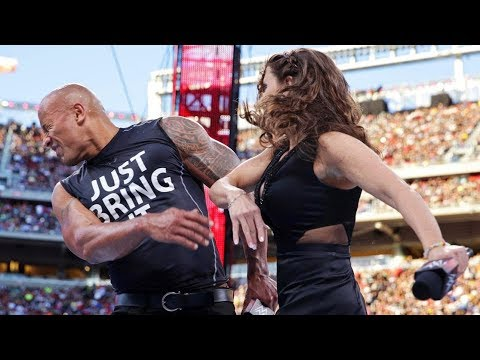 Rock Chris Jericho insult Stephanie McMahon Rhyno and Booker T thumbnail