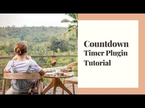 Simple Countdown effect with Timer JS plugin | Tutorial for Beginners