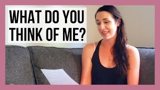 Reading Your Assumptions About Me!