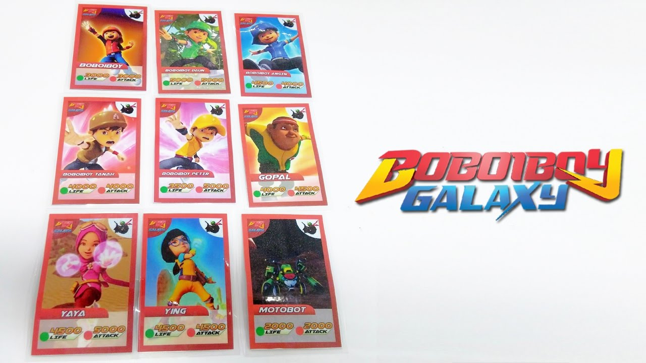 Wow Boboiboy Galaxy Cards Youtube