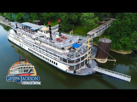 KEN HERON - Drone The General Jackson Paddle Boat [4K]