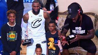 LeBron James lets LeBron James Jr. and Bryce Drink Wine?