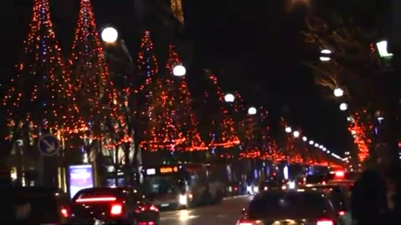Christmas Lights In Paris.Paris France Christmas Lights Champs Elysees
