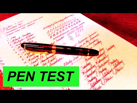 Testing a Fountain Pen - Pen ASMR