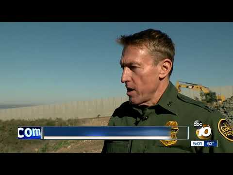 Touring new sections of the border wall in San Diego