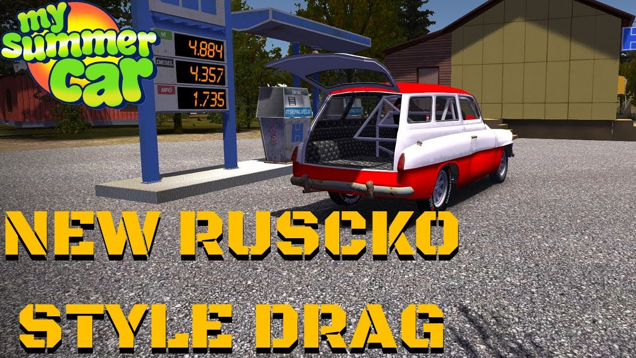 New Ruscko Style Drag New Car Skin My Summer Car 123 Mod