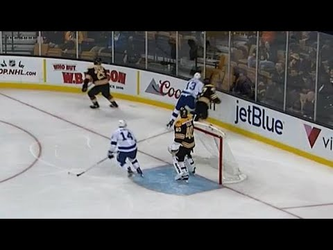 Lightning's Paquette hits Krug from behind, scrum ensues
