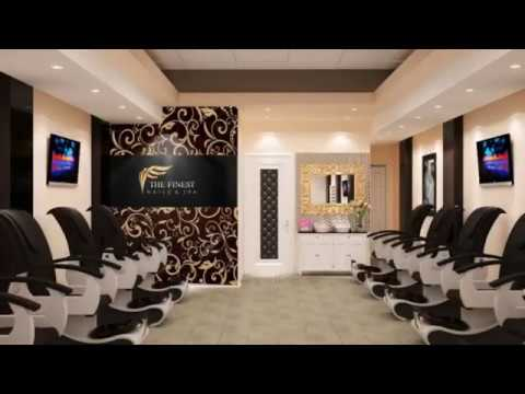 Nails salon interior design ideas - 3D DESIGN, IFOSS TEAM