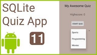Multiple Choice Quiz App with SQLite Integration Part 11 - CATEGORIES - Android Studio Tutorial