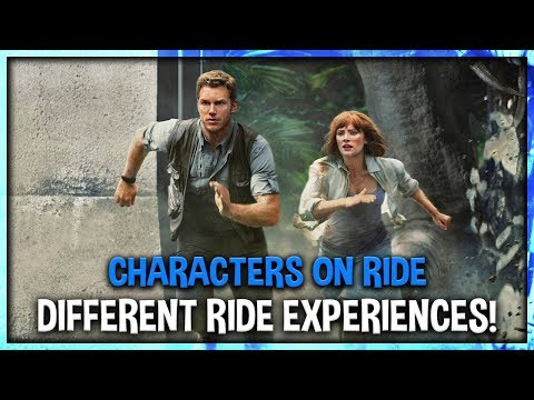 Different Scenario Experiences on Jurassic World the Ride New Details and On Ride Characters