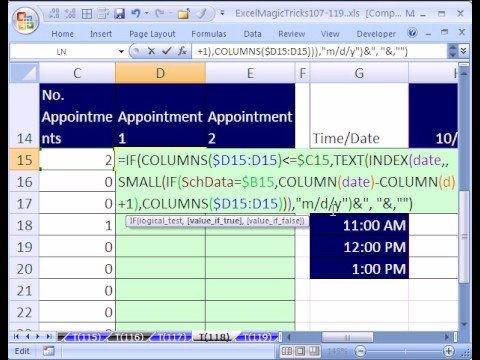 Excel Magic Trick #118: Reverse 2-Way Lookup Part 2