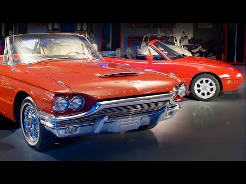 1964 Ford Thunderbird vs 1991 Mazda Miata! - Generation Gap: Convertibles