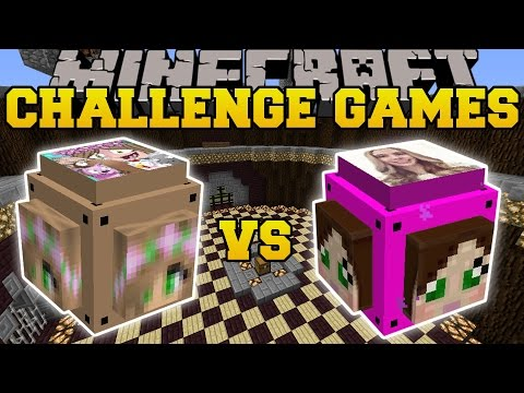 Minecraft: LITTLE KELLY VS GAMINGWITHJEN CHALLENGE GAMES - Lucky Block Mod - Modded Mini-Game