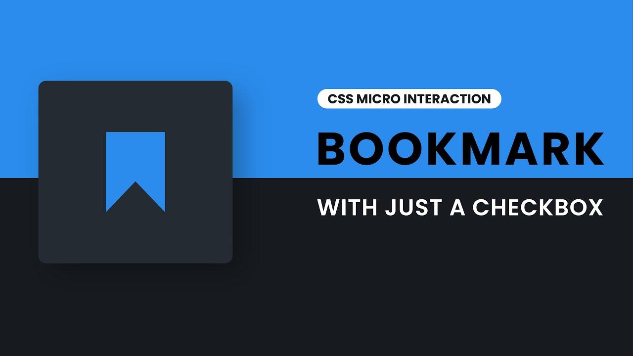 CSS Bookmark Microinteraction   Custom Checkbox CSS