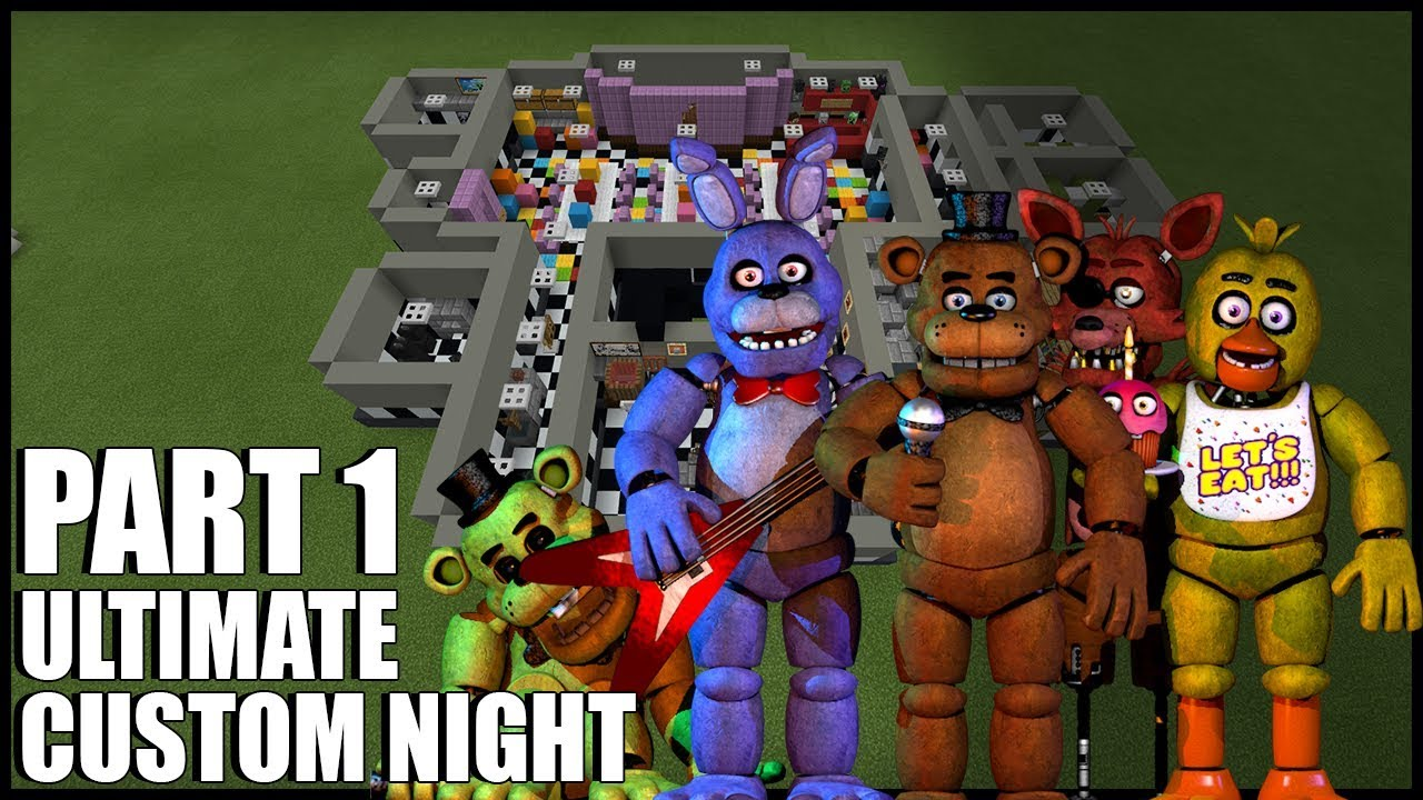 How To Build FNAF Ultimate Custom Night In Minecraft! (Part 1)