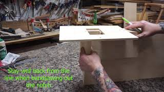 Video #3 - building a Sam Maloof inspired bench