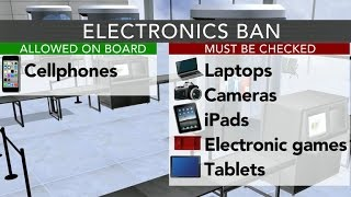 U.S. and U.K. ban most electronic devices on flights from several Muslim-majority countries