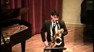 Mark Watters Rhapsody for Baritone Saxophone - classical concert sax solo
