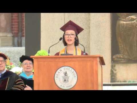 Dean College Commencement 2016: Candice \