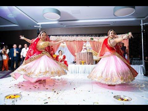 Ghoomar Bollywood Dance By Neelu And Meyrin    Nepali Wedding   