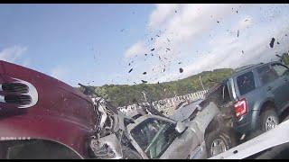 Near Death GoPro Dash Cam Video Highway Accident