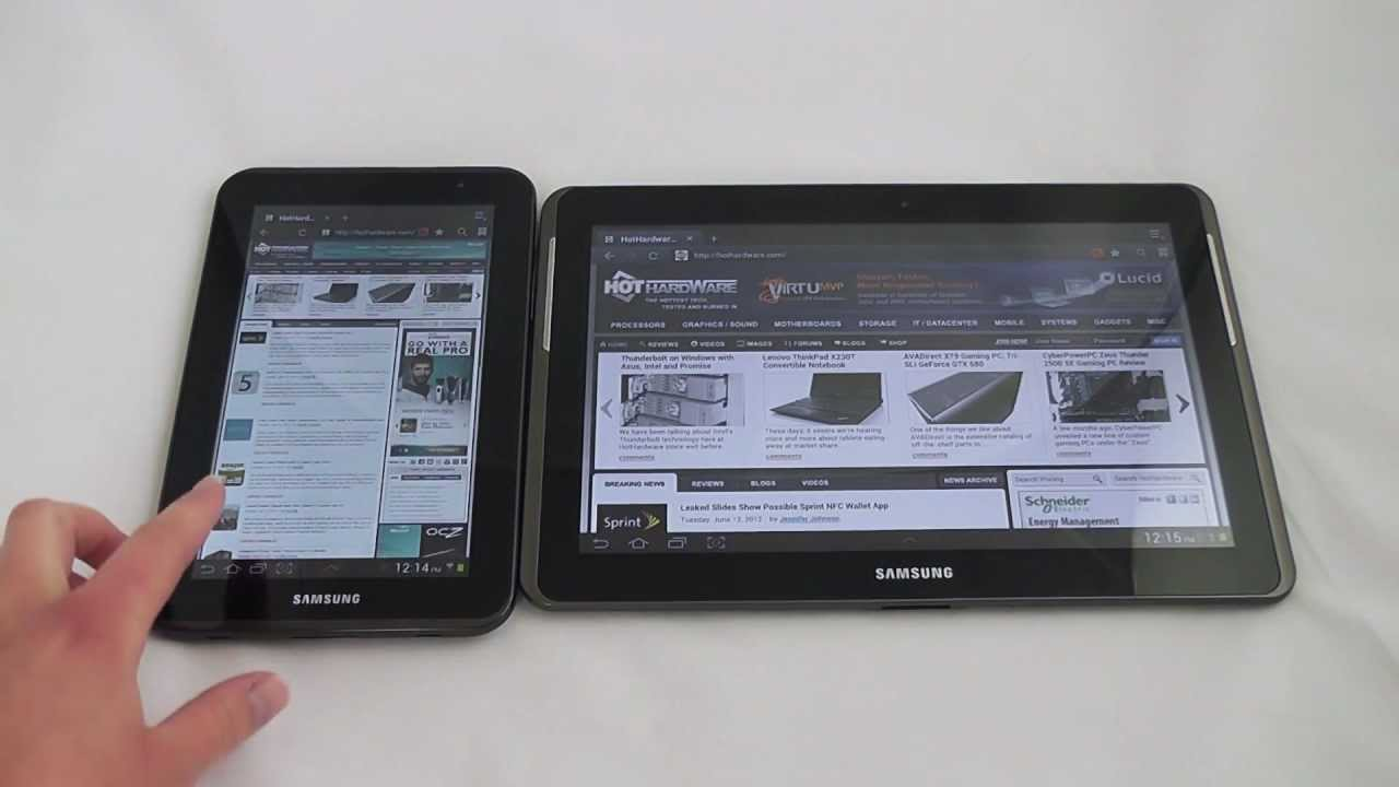 Samsung Galaxy Tab 2 10 Inch And 7 Inch Android Tablet