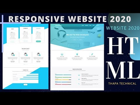Complete Responsive Website Using HTML CSS Bootstrap 4 And JavaScript In Hindi 2020