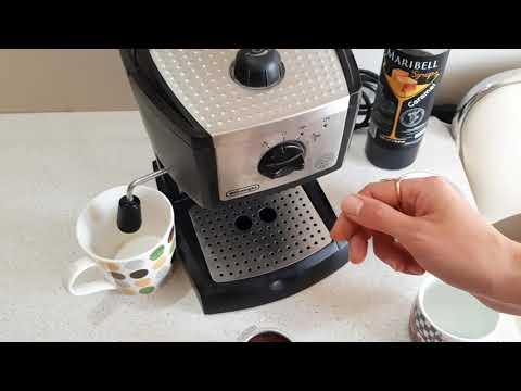 ☕ Кофеварка эспрессо DELONGHI EC 155 - делаем латте в домашних условиях