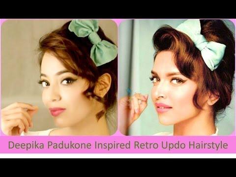 Deepika Padukone Inspired Retro Updo Hairstyle (Hindi)